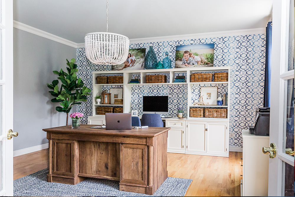 Beachy and organized home office